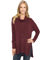 Mod-o-doc - Luxe Heather Sweater Slouchy Funnel Neck Pullover