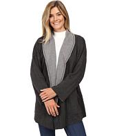 Mod-o-doc - Two-Tone Ponte Reversible Kimono Sleeve Coat