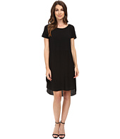 HEATHER - Silk Overlap Tee Dress