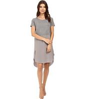 HEATHER - Silk Overlap Tee Dress