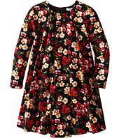 Dolce & Gabbana Kids - Back to School Floral Long Sleeve Dress (Toddler/Little Kids)