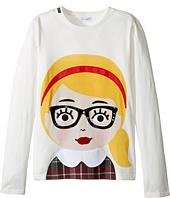 Dolce & Gabbana Kids - Back to School Bimba Bionda Long Sleeve T-Shirt (Big Kids)
