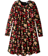 Dolce & Gabbana Kids - Back to School Floral Long Sleeve Dress (Big Kids)