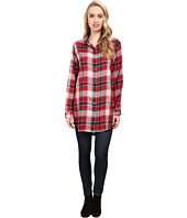 Jag Jeans - Magnolia Tunic Rayon Yd Plaid in Red Wagon