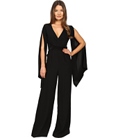 Gabriela Cadena - Crepe Jumpsuit with Satin Waist and Cape Sleeve