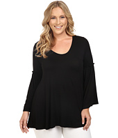 Christin Michaels - Plus Size Edrielle Bell Sleeve Top