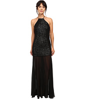 Halston Heritage - Halter Sequin High-Low Gown