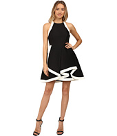 Halston Heritage - Structured Dress with Tiered Skirt