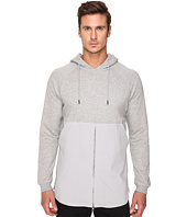 Publish - Fedde - Premium Heather Terry Hoodie with Fabric Blocked Bottom Zipper Closure