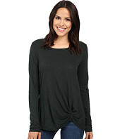 Michael Stars - Cotton Supima Slub Long Sleeve Crew w/ Front Twist