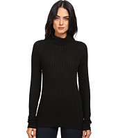 Michael Stars - Jasper Poor Boy Rib Long Sleeve Turtleneck w/ Sleeve Shirring
