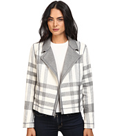 Michael Stars - Double-Faced Flannel Plaid Moto Jacket