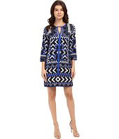 Vince Camuto - Printed CDC T-Body with 3/4 Length Sleeves and Combo Binding