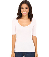 Michael Stars - Shine Elbow Sleeve Sweetheart Top
