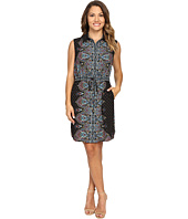 Tahari by ASL Petite - Petite Paisley Sleeveless Shirtdress