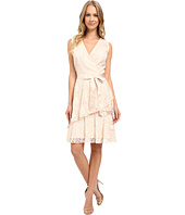 Tahari by ASL - V-Neck All Over Lace Dress w/ Tiered Skirt