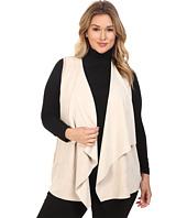 Calvin Klein Plus - Plus Size Vest w/ Suede Drape