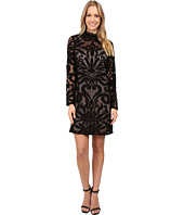 Adrianna Papell - Lined Art Deco Lace Shift Dress