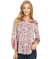 Lucky Brand - Woven Mixed Floral Top