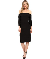 Adrianna Papell - Fold-Over Top Banded Sheath Dress