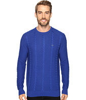 Lacoste - Long Sleeve Resort Cotton Cable Crew Neck