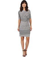 Christin Michaels - Eugina Twisted Front Short Sleeve Dress