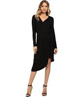 Christin Michaels - Ailie Long Sleeve Crossed Dress
