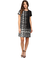 Vince Camuto - Cap Sleeve Textural Track Shift Dress