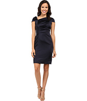 Tahari by ASL - Fold-Over Collar Side Ruched Dress