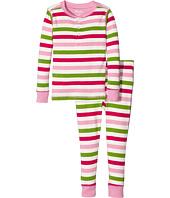 Hatley Kids - Holiday Stripe Henley Pajamas (Toddler/Little Kids/Big Kids)