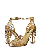 Dolce & Gabbana - Laser Cut Patent Leather Mesh w/ Metal Heel