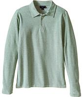 Oscar de la Renta Childrenswear - Heathered Long Sleeve Polo (Toddler/Little Kids/Big Kids)