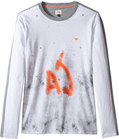 Armani Junior - Splatter Logo Tee (Toddler/Little Kids/Big Kids)