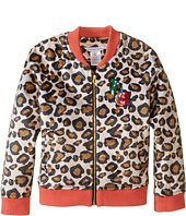 Little Marc Jacobs - Resort - Faux Fur Leopard Jacket with Cherry Patch (Toddler/Little Kids)