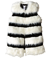 Little Marc Jacobs - Faux Fur Sleeveless and Striped Gilet (Big Kids)