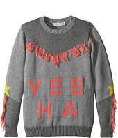Stella McCartney Kids - Yeeah Yeeha Knit Sweater with Fringe Detail (Toddler/Little Kids/Big Kids)