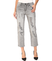 Calvin Klein Jeans - Destroyed Crop Straight Jeans in Grey Fog