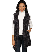 Dylan by True Grit - Plush Faux Classic Silky Fur Long Snap Vest