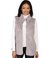 Dylan by True Grit - Plush Faux Vintage Heather Fur Hook Vest w/ Pockets