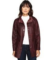 Dylan by True Grit - Easy Rider Vintage Faux Leather Reversible Coat w/ Snap Closure and Pockets