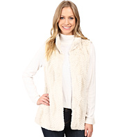 Dylan by True Grit - Plush Faux Chalk Textured Fur Hook Vest w/ Pockets