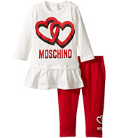 Moschino Kids - Logo Tee w/ Flounce and Leggings Set (Infant/Toddler)