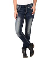 Rock and Roll Cowgirl - Mid-Rise Skinny in Dark Vintage W1S7387