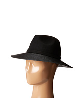 Vince Camuto - Faux Leather Loop and Brim Panama