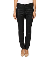 NYDJ Petite - Petite Alina Leggings Jeans in Faux Leather Coating in Black/Grey Leather Coating
