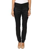 NYDJ Petite - Petite Alina Leggings Jeans in Faux Leather Coating in Black/Grey Leather Coating