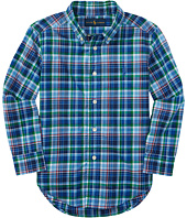 Polo Ralph Lauren Kids - Poplin Plaid Long Sleeve Button Down Shirt (Toddler)
