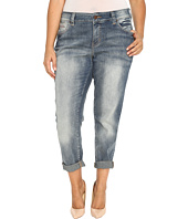 Jag Jeans Plus Size - Plus Size Relaxed Boyfriend in Saginaw Blue Platinum Denim