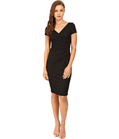 Adrianna Papell - Wrap Front Jacquard Dress