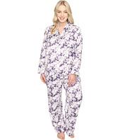 Carole Hochman - Plus Size Packaged Brush Back Satin Pajama